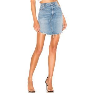 NWT GRLFRND Rhoda Asymmetrical Denim Mini Skirt 24